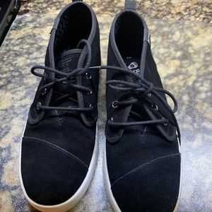 Bobs by Sketchers Size 8 black suede sneakers